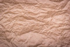 Rumpled recycled paper. Crumpled paper. Royalty Free Stock Image