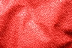 Rumpled red leather Royalty Free Stock Images