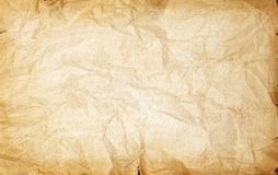 Rumpled vintage paper texture Stock Photography