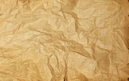 Rumpled vintage paper texture Stock Photos