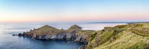 The Rumps on Cornwall's Atlantic Coast Stock Photos