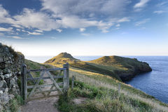 The Rumps on Pentire Head in Cornwall Stock Images