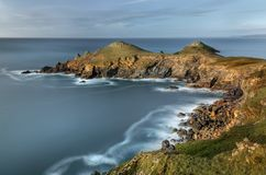 The Rumps, Pentire Point. A beautiful and unique stretch of coas royalty free stock photography