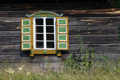 Rumsiskes Window. The window of a traditional home in Rumsiskes, Lithuania Royalty Free Stock Photos