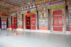 Rumtek修道院的,锡金,印度年轻和尚 免版税图库摄影