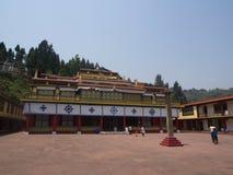 Rumtek kloster nära Gangtok Sikkim Indien, 2013 April 14th Arkivfoto