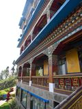 Rumtek kloster nära Gangtok Sikkim Indien, 2013 April 14th Arkivbild