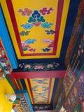 Rumtek kloster nära Gangtok Sikkim Indien, 2013 April 14th Arkivbilder