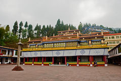 Rumtek Monastery. Also called the Dharmachakra Centre, is a gompa located in the Indian state of Sikkim near the capital Gangtok served as the main seat of the Royalty Free Stock Photography