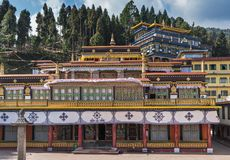 Rumtek Monastery in Indian state of Sikkim royalty free stock photo