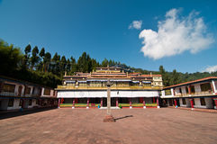 Rumtek monastery in Sikkim Royalty Free Stock Photos