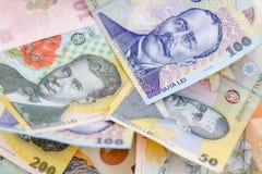 Rumuńscy banknoty w górę obraz stock