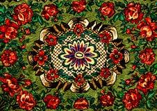 Rumuńscy ludowi bezszwowi wzorów ornamenty Rumuńska tradycyjna broderia Tekstura etniczny projekt Tradycyjny dywanowy projekt Car fotografia royalty free