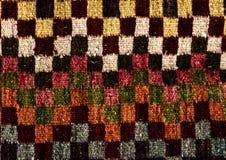 Rumuńscy ludowi bezszwowi wzorów ornamenty Rumuńska tradycyjna broderia Tekstura etniczny projekt Tradycyjny dywanowy projekt Car obrazy royalty free