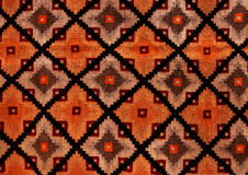 Rumuńscy ludowi bezszwowi wzorów ornamenty Rumuńska tradycyjna broderia Tekstura etniczny projekt Tradycyjny dywanowy projekt Car Obraz Royalty Free