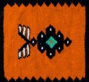 Rumuńscy ludowi bezszwowi wzorów ornamenty Rumuńska tradycyjna broderia Tekstura etniczny projekt Tradycyjny dywanowy projekt Obrazy Stock