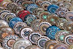Rumuńscy tradycyjni ceramiczni talerze 1 Zdjęcie Stock