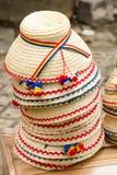 Rumuńscy tradycyjni cloche kapelusze zdjęcie royalty free
