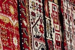 Rumuńscy tradycyjni dywaniki fotografia royalty free