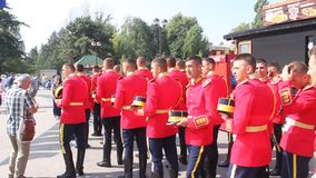 Rumuńska gwardia honorowa Obraz Royalty Free