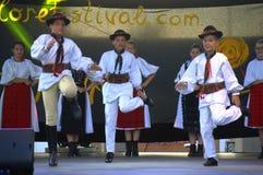 Rumuński dzieciaka folkloru tana sceny występ Obrazy Royalty Free