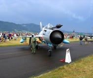Rumuński myśliwiec odrzutowy Zdjęcia Royalty Free