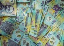 Rumuński pieniądze Ron tło obraz royalty free