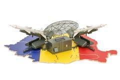 Rumuński pociska defence systemu pojęcie, 3D rendering royalty ilustracja