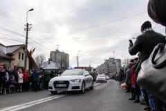 Rumuńskiego święta państwowego parady militarny vehicule fotografia stock