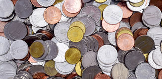 Rumuńscy monety Bani Lei Obraz Royalty Free