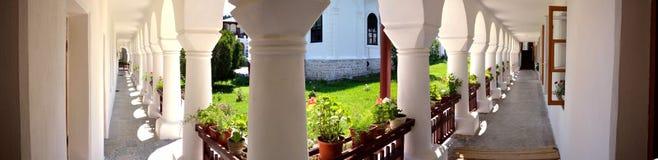 Rumuńscy punkty zwrotni. Agapia monaster Zdjęcia Stock