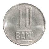 Rumuńska bani moneta Zdjęcie Stock