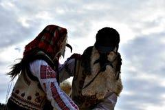 Rumuńska tradycja Datini Zdjęcia Royalty Free
