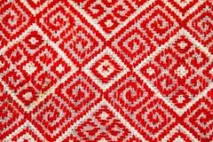 Rumuńska tradycyjna bluzka tekstury i tradycyjni motywy - Obraz Royalty Free