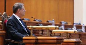 Rumuński parlament polityka - prezydent mowa - Obrazy Stock