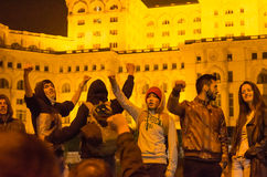 Rumuński protest 04/11/2015 Zdjęcia Stock