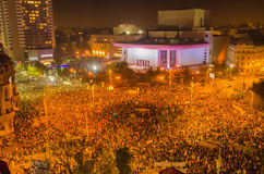 Rumuński protest 04/11/2015 Zdjęcia Royalty Free
