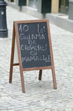 Rumuński Restauracyjny menu Zdjęcie Stock
