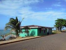 Rumu sklepu baru typowa architektura w Dużej Kukurydzanej wyspie Nikaragua Ameryka Środkowa obrazy stock