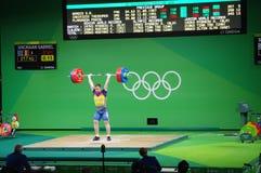 Rumunia Gabriel Sincraian, weightlifter przy olimpiadami Obrazy Royalty Free