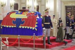 Rumunia - królewiątko Michael Ja - Królewski pogrzeb obraz stock