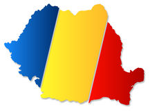 Rumunia mapa Obraz Stock
