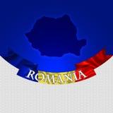 Rumunia mapa, chorągwiana ilustracja Fotografia Royalty Free