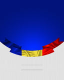 Rumunia, Rumuńska flaga Zdjęcia Stock