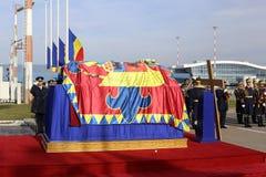 RUMUNIA ` S POPRZEDNI królewiątko MICHAEL UMIERAM PRZY wiekiem 96 obrazy royalty free