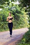 Run. Morning run on rural road Stock Image