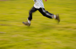 Run. A boy running Stock Photography