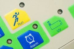 Run and alarm keys control Royalty Free Stock Photography