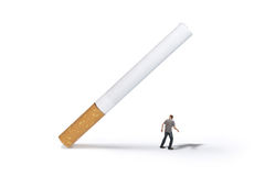 Run away!!. Beware of cigarette.. save yourself stock image
