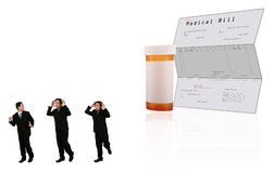 Run Away From Medical Bill Stock Photography